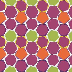 Hexagons - colorway 7