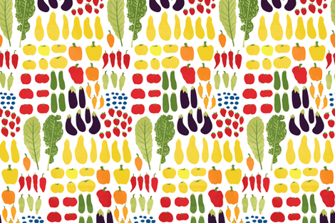 Farm to Table fabric by onelittleprintshop on Spoonflower - custom fabric