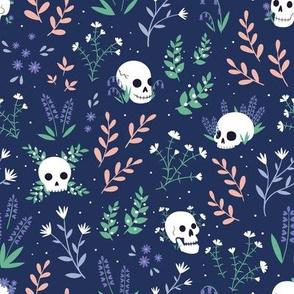 Skull Floral (blue)