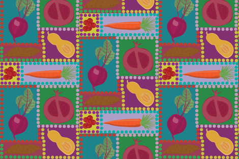 fresh fruits and veggies fabric by casey_belle_ on Spoonflower - custom fabric