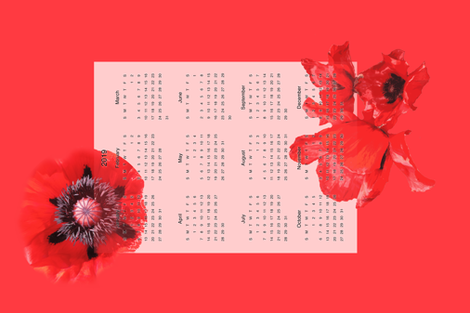 Poppy 2019 fabric by ruthjohanna on Spoonflower - custom fabric