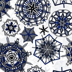 mandala snowflakes small