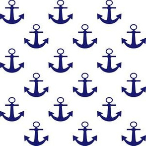 One Inch Midnight Blue Anchors on White
