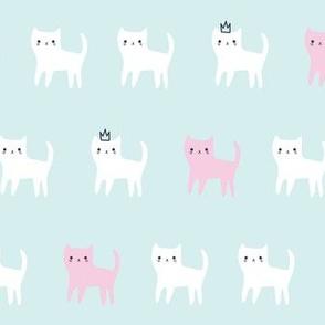 festive woodland kitty cats mint