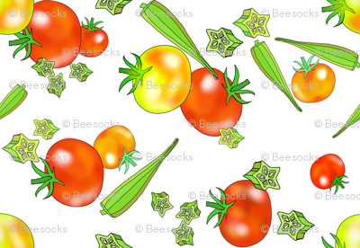 Edible Jewels tomatoes and okra