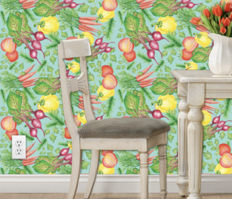 Vegetable Farm to Table Fabric