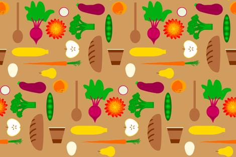 Eat Food Mostly Plants fabric by bloomingwyldeiris on Spoonflower - custom fabric
