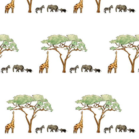 savanna fabric by jell-bell on Spoonflower - custom fabric