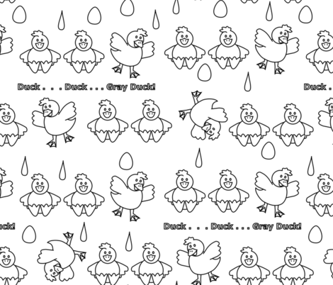 duck duck gray duck color it  fabric by pamelachi on Spoonflower - custom fabric