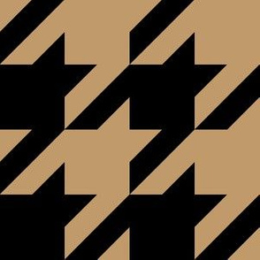 Three Inch Camel Brown and Black Houndstooth