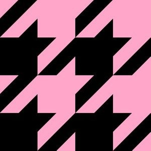 Three Inch Carnation Pink and Black Houndstooth