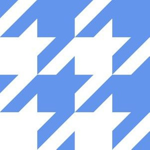 Three Inch Cornflower Blue and White Houndstooth