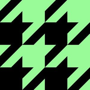 Three Inch Mint Green and Black Houndstooth