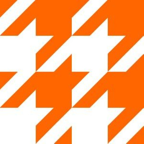 Three Inch Orange and White Houndstooth
