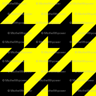Three Inch Yellow and Black Houndstooth