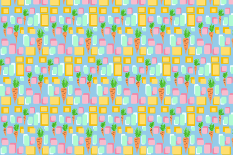 Carrots. I made some soup. fabric by palusalu on Spoonflower - custom fabric