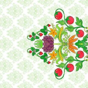 Market Fresh Damask Tea Towel