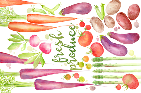 fresh produce fabric by cjldesigns on Spoonflower - custom fabric