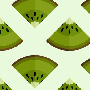 Ripe green kiwi fruit slice pattern