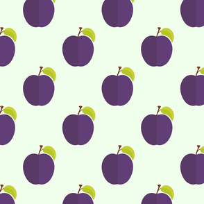 Ripe sweet  plums pattern