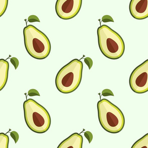 Ripe avocado slices pattern