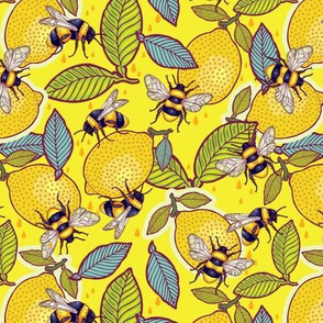 Yellow lemon and bee garden.