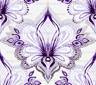 Lotus Abstract - purple