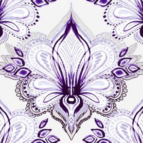 Lotus Abstract - purple