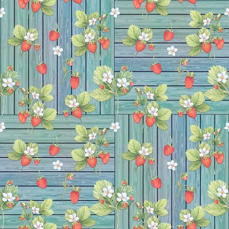 Rwatercolor_strawberries_mix_on_wood_aqua_checkerboard_4_by_floweryhat_shop_preview