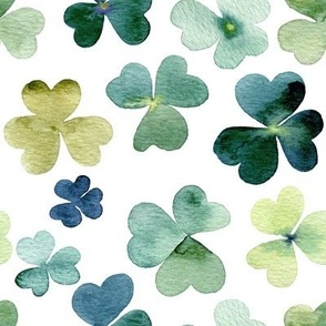 Shamrock fabric wallpaper gift wrap spoonflower shamrock watercolor garden voltagebd Image collections