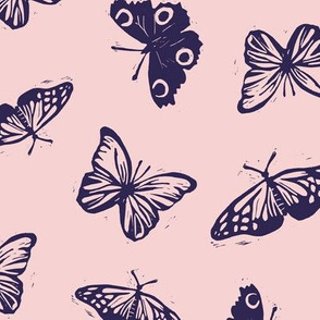 Butterfly lino stamps