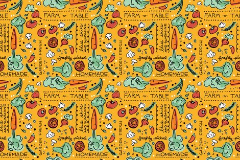 Farmers' Market Treats and Eats fabric by justdani on Spoonflower - custom fabric