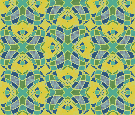 Winged Regent (Yellow) fabric by david_kent_collections on Spoonflower - custom fabric