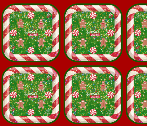 Gingerbread Celebration! fabric by bent_line_designs on Spoonflower - custom fabric