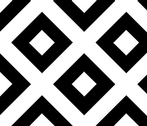 double_bold_diamond_black_large fabric by blayney-paul on Spoonflower - custom fabric