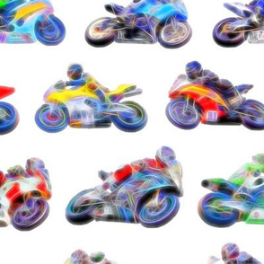 Motorbikes - White Background