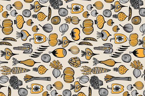 HARVEST TEA TOWEL fabric by kirstenkatz on Spoonflower - custom fabric