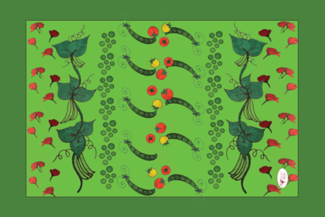 Beans_peas_and_toms fabric by rachr on Spoonflower - custom fabric