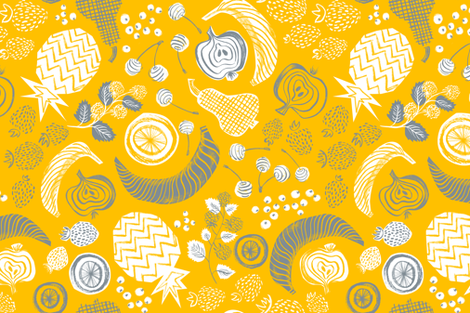 Fruits Basket fabric by lebski on Spoonflower - custom fabric