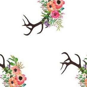 """5"""" Floral Deer Antlers"""