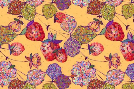 memories of strawberry picking fabric by designed_by_debby on Spoonflower - custom fabric