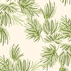 Pine Needles Off White