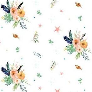 """4"""" Peach Mermaid / MIX & MATCH / White"""