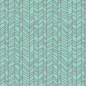 crayon herringbone