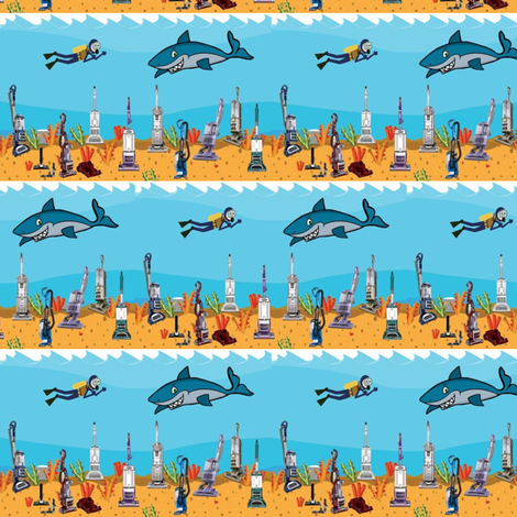 Vacuuming the Ocean Floor  fabric by gethugged on Spoonflower - custom fabric