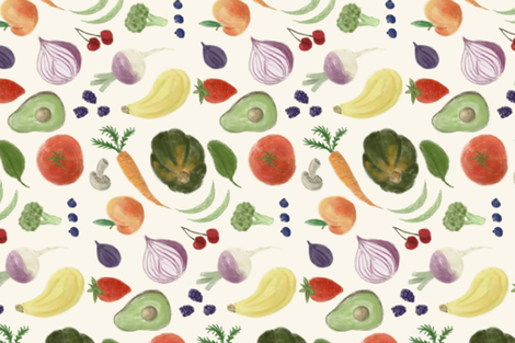 Haymarket Goodies Tea Towel  fabric by kellie_jayne_ on Spoonflower - custom fabric
