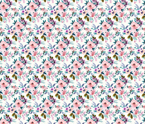 Victoria Floral S fabric by crystal_walen on Spoonflower - custom fabric