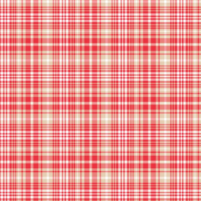 Christmas Plaid - Red and Tan Tartan