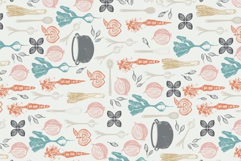 Farm to Fork Tea Towel fabric by mintedtulip on Spoonflower - custom fabric