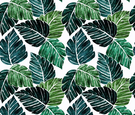Monstera_Leaves-medium fabric by crystal_walen on Spoonflower - custom fabric